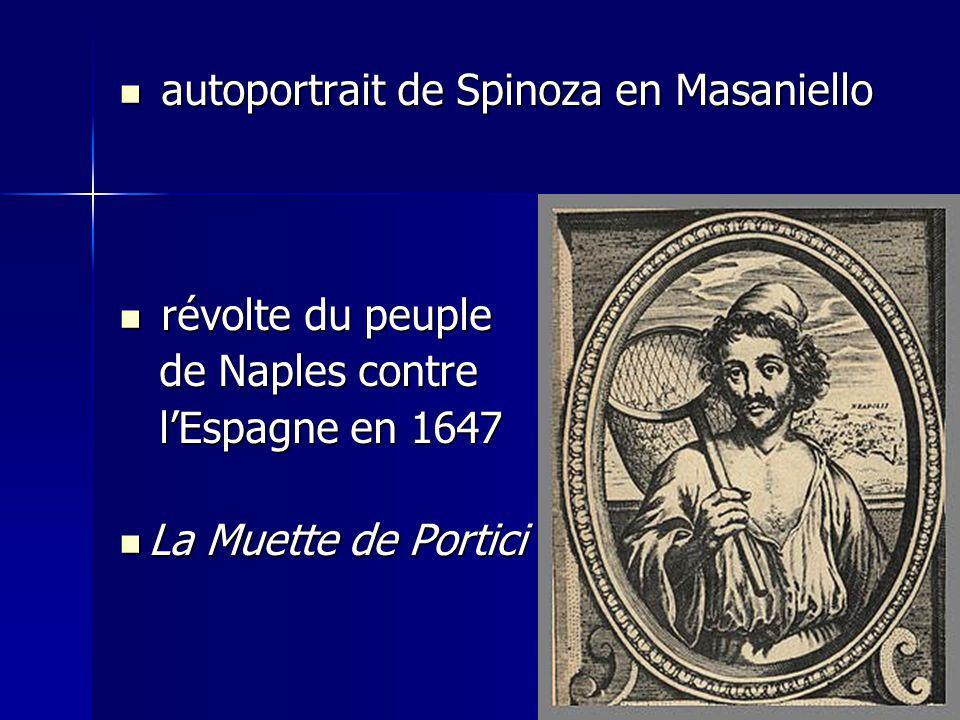 autoportrait de Spinoza en Masaniello autoportrait de Spinoza en Masaniello révolte du peuple révolte du peuple de Naples contre de Naples contre lEsp