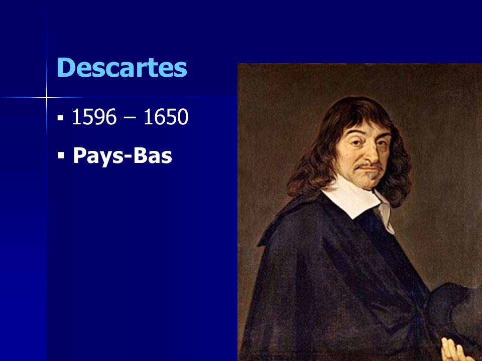 Descartes 1596 – 1650 Pays-Bas