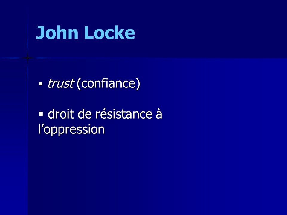 trust (confiance) trust (confiance) droit de résistance à loppression droit de résistance à loppression John Locke