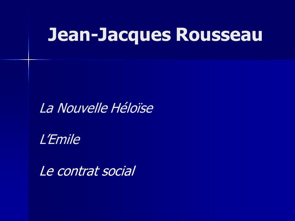 La Nouvelle Héloïse LEmile Le contrat social Jean-Jacques Rousseau