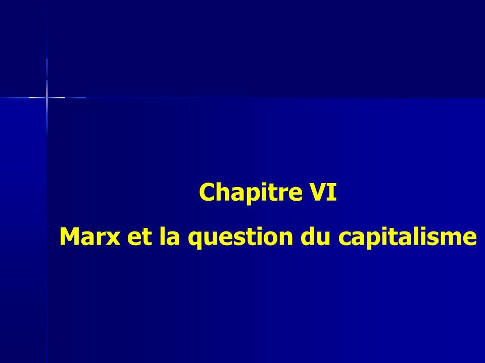 Chapitre VI Marx et la question du capitalisme