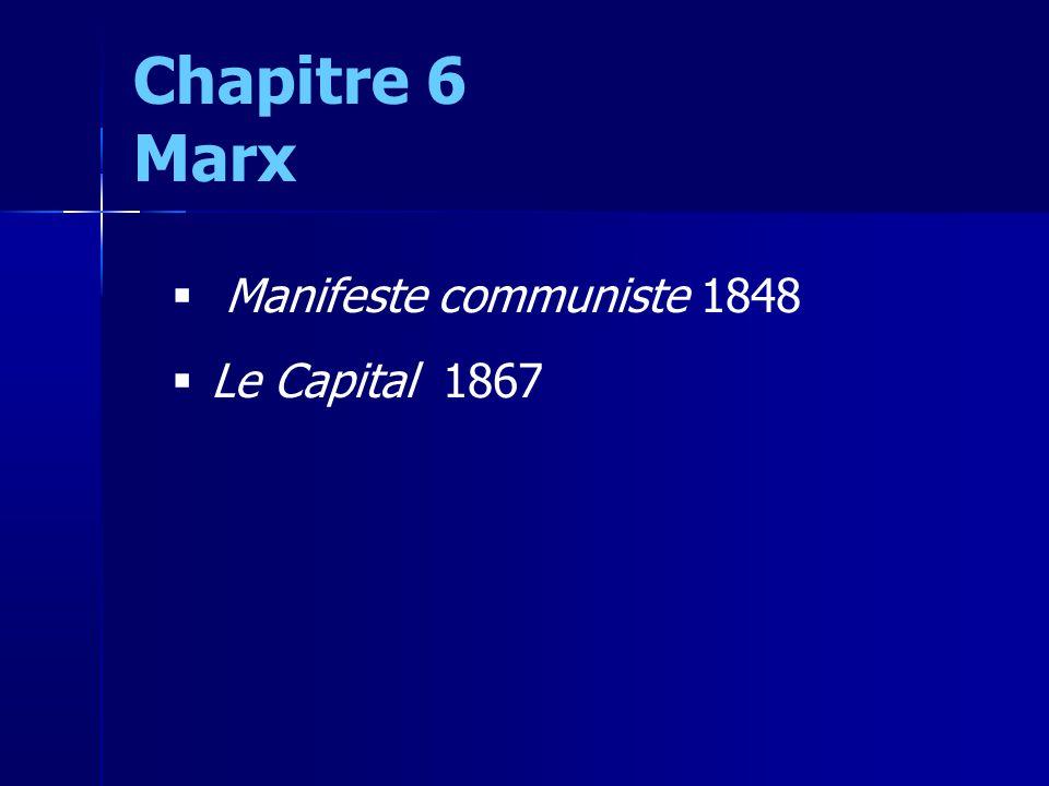 Manifeste communiste 1848 Le Capital 1867 Chapitre 6 Marx