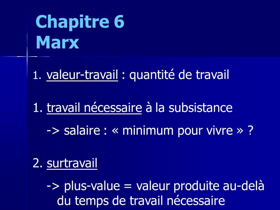 1. valeur-travail : quantité de travail 1.