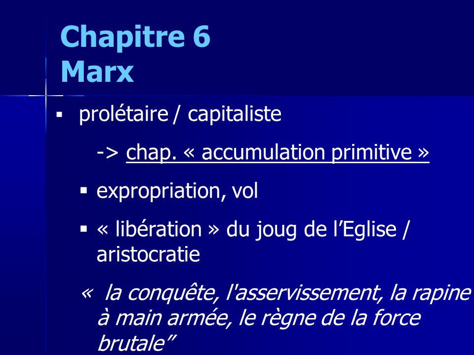 prolétaire / capitaliste -> chap.