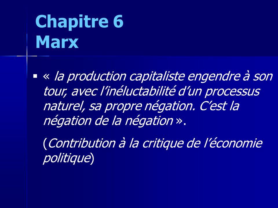 « la production capitaliste engendre à son tour, avec linéluctabilité dun processus naturel, sa propre négation.