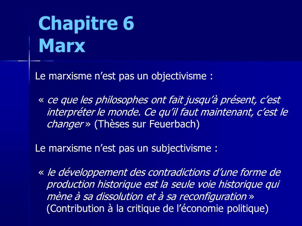 Le marxisme nest pas un objectivisme : « ce que les philosophes ont fait jusquà présent, cest interpréter le monde.