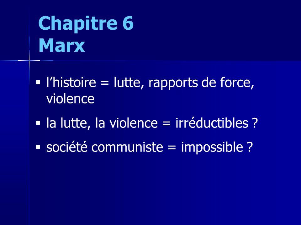 lhistoire = lutte, rapports de force, violence la lutte, la violence = irréductibles .
