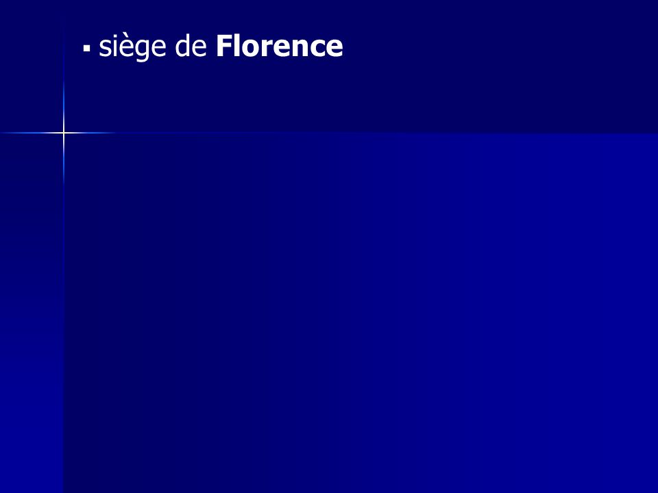 siège de Florence