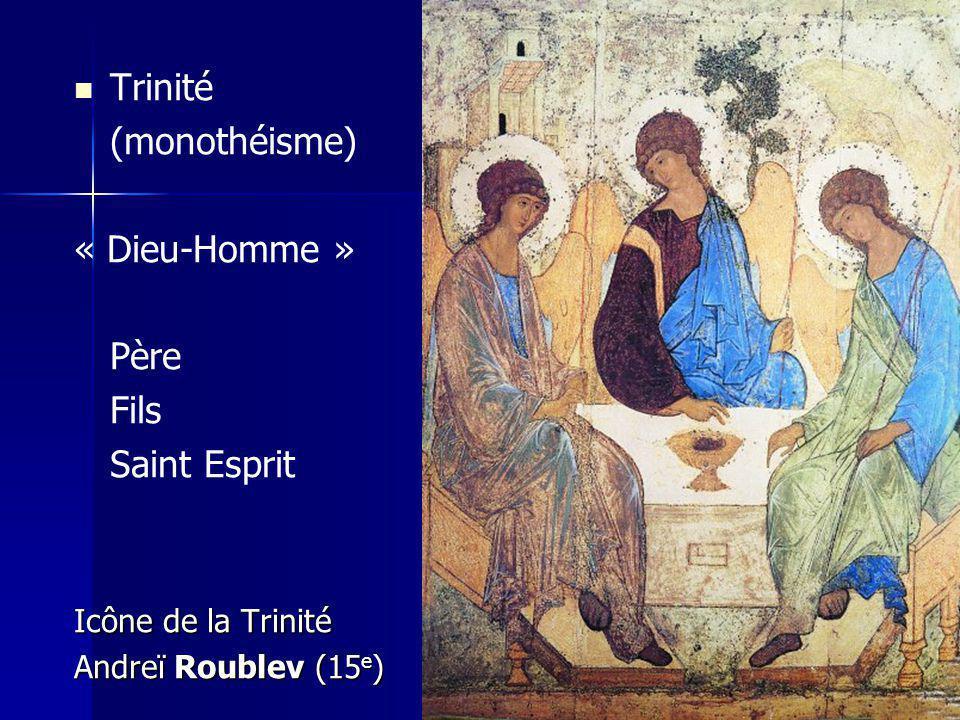 Trinité (monothéisme) « Dieu-Homme » Père Fils Saint Esprit Icône de la Trinité Andreï Roublev (15 e )