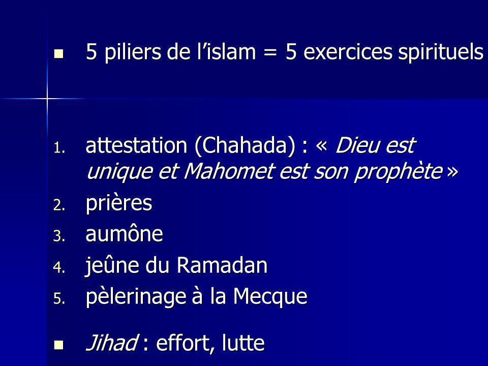 5 piliers de lislam = 5 exercices spirituels 5 piliers de lislam = 5 exercices spirituels 1.