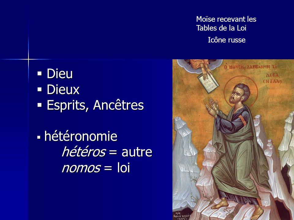 Moïse recevant les Tables de la Loi Icône russe Dieu Dieu Dieux Dieux Esprits, Ancêtres Esprits, Ancêtres hétéronomie hétéronomie hétéros = autre hété