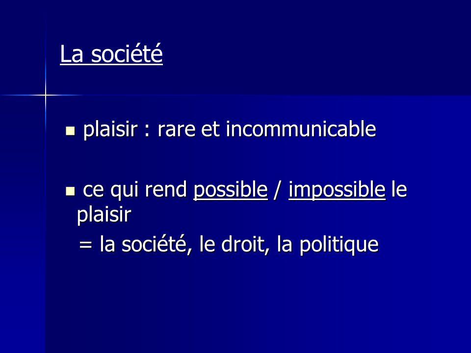 plaisir : rare et incommunicable plaisir : rare et incommunicable ce qui rend possible / impossible le plaisir ce qui rend possible / impossible le pl