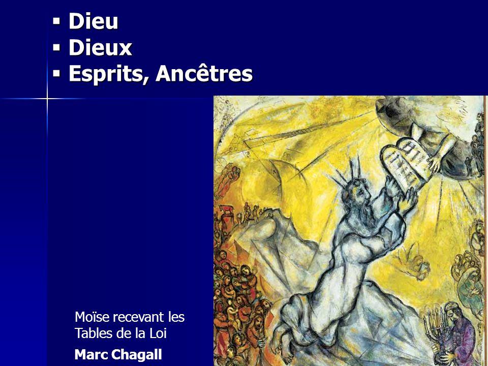 Moïse recevant les Tables de la Loi Marc Chagall Dieu Dieu Dieux Dieux Esprits, Ancêtres Esprits, Ancêtres