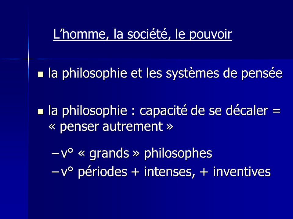 la philosophie et les systèmes de pensée la philosophie et les systèmes de pensée la philosophie : capacité de se décaler = « penser autrement » la ph