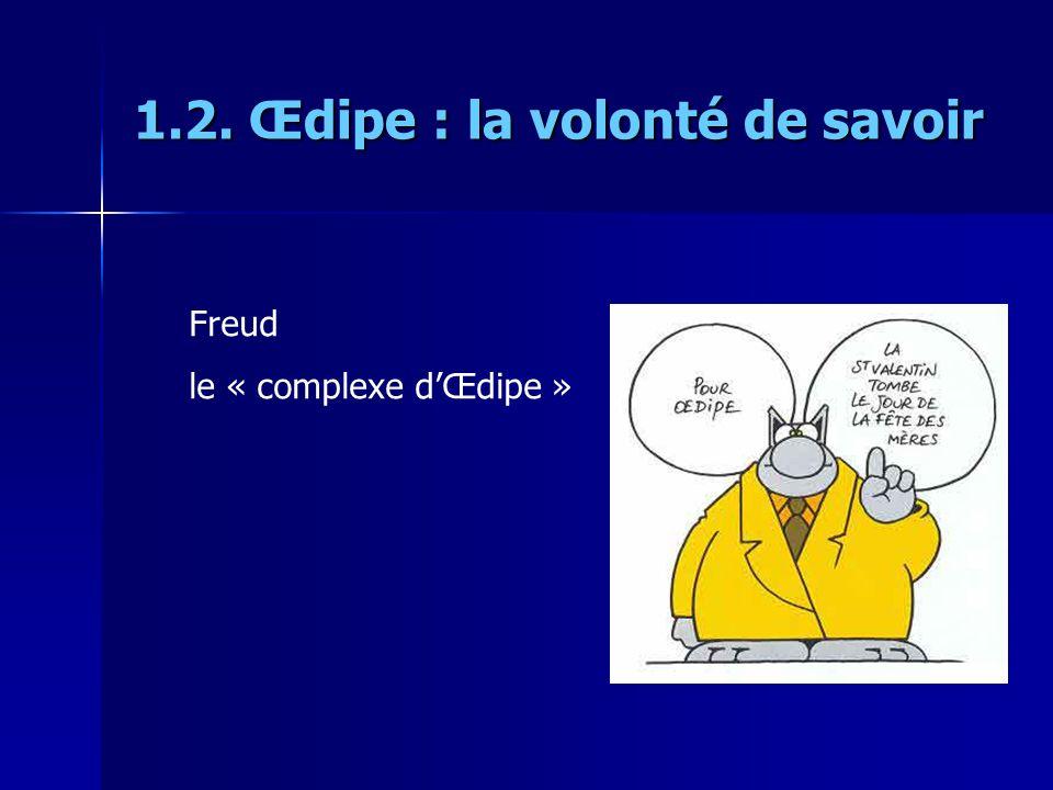 1.2. Œdipe : la volonté de savoir Freud le « complexe dŒdipe »