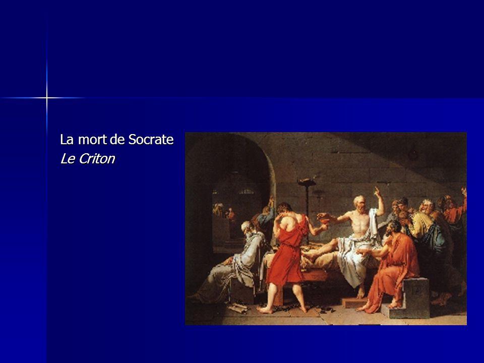 La mort de Socrate Le Criton