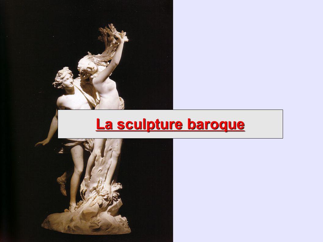 Bernini : Apollon et Daphné (1622-25, marbre, 243 cm, Rome) Les personnages sont immobilisés en mouvement.