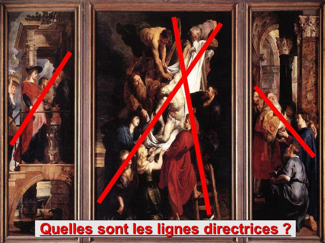 Le tableau se compose de trois volets, CECI EST DONC UN TRIPTYQUE Etudions de plus près le panneau central...