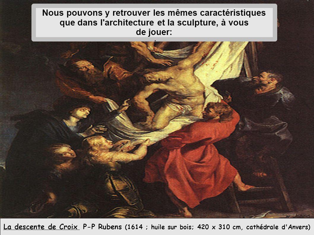 La descente de Croix P-P Rubens (1614 ; huile sur bois; 420 x 310 cm, cathédrale d Anvers) Les personnages sont en.............................