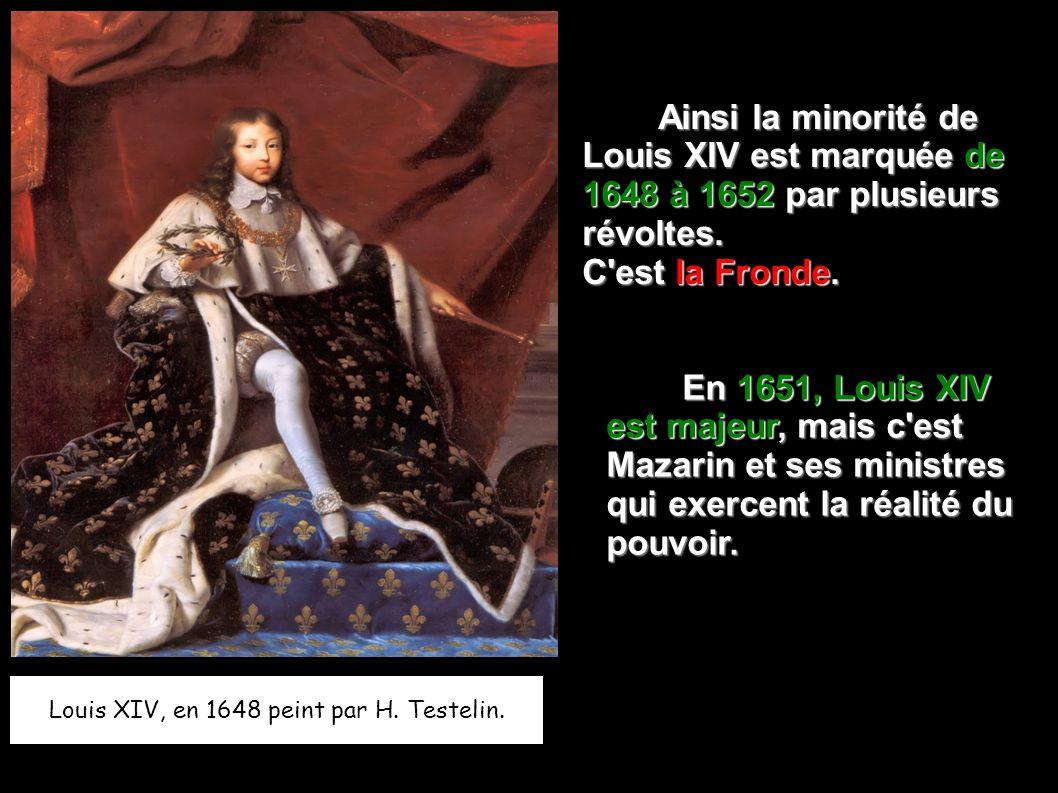 Louis XIV, en 1648 peint par H.Testelin.