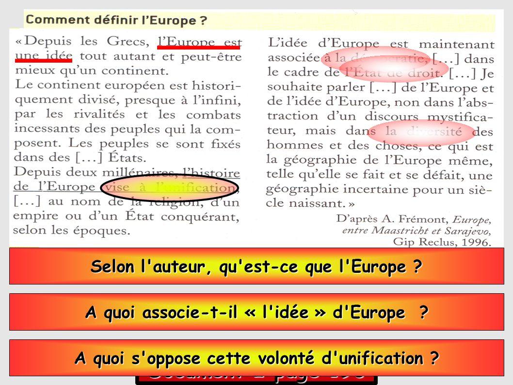 Document 2 page 196 Selon l auteur, qu est-ce que l Europe .