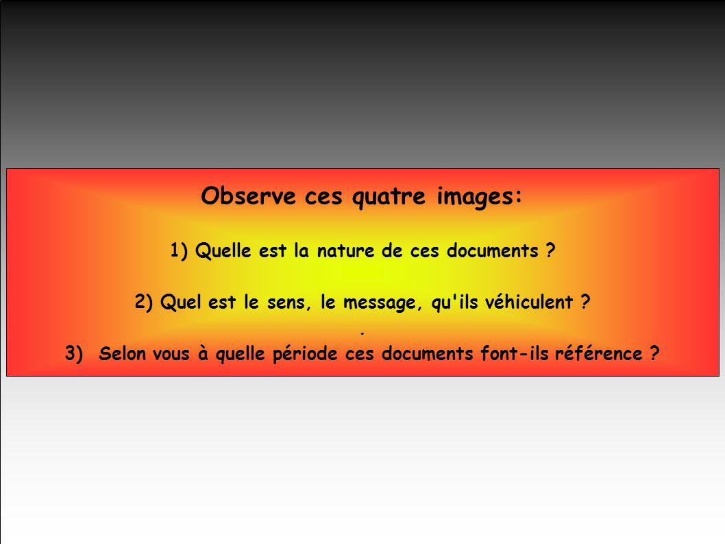Observe ces quatre images: 1) Quelle est la nature de ces documents .