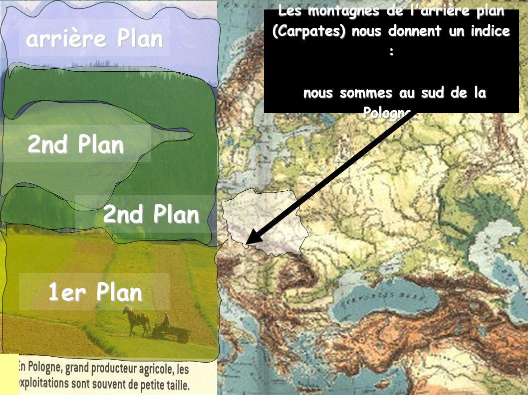 1er Plan 2nd Plan arrière Plan Les montagnes de l arrière plan (Carpates) nous donnent un indice : nous sommes au sud de la Pologne.