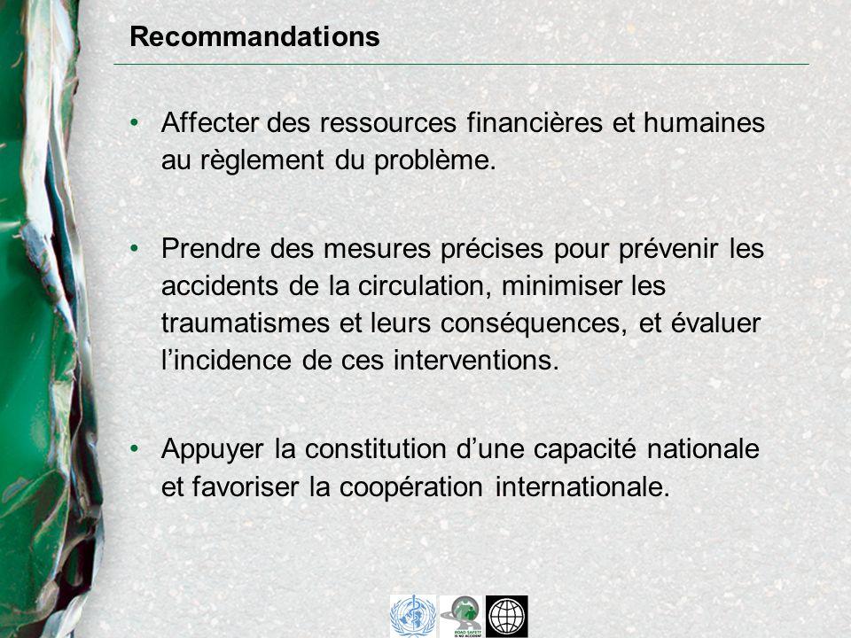 Affecter des ressources financières et humaines au règlement du problème.