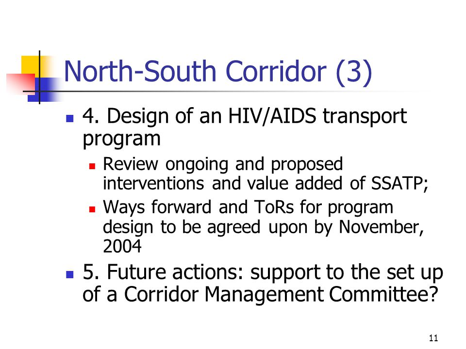 11 North-South Corridor (3) 4.