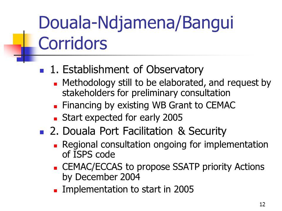 12 Douala-Ndjamena/Bangui Corridors 1.