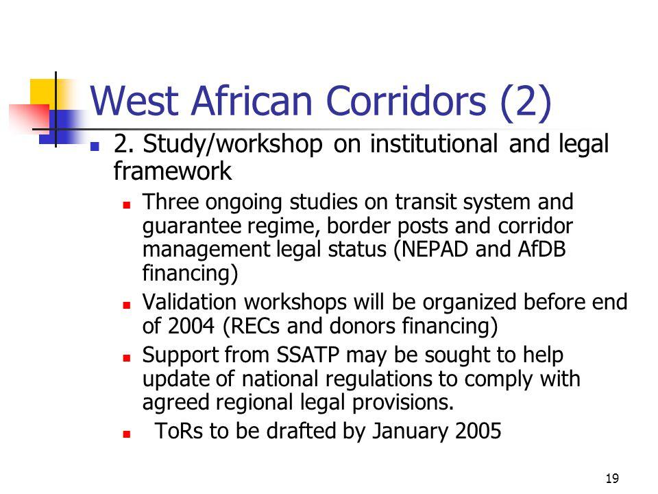 19 West African Corridors (2) 2.
