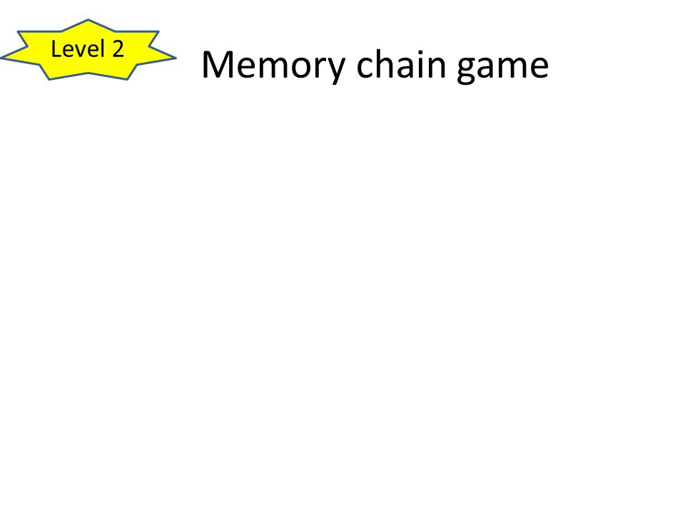 Memory chain game Level 2