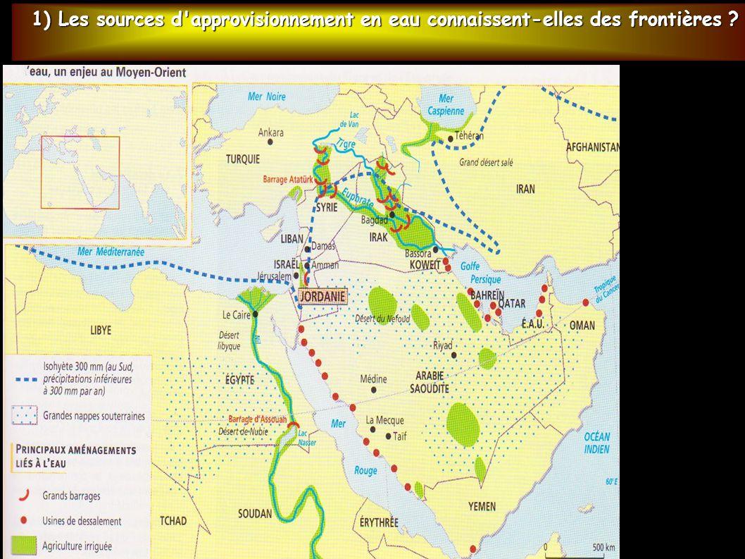 1) Les sources d'approvisionnement en eau connaissent-elles des frontières ?
