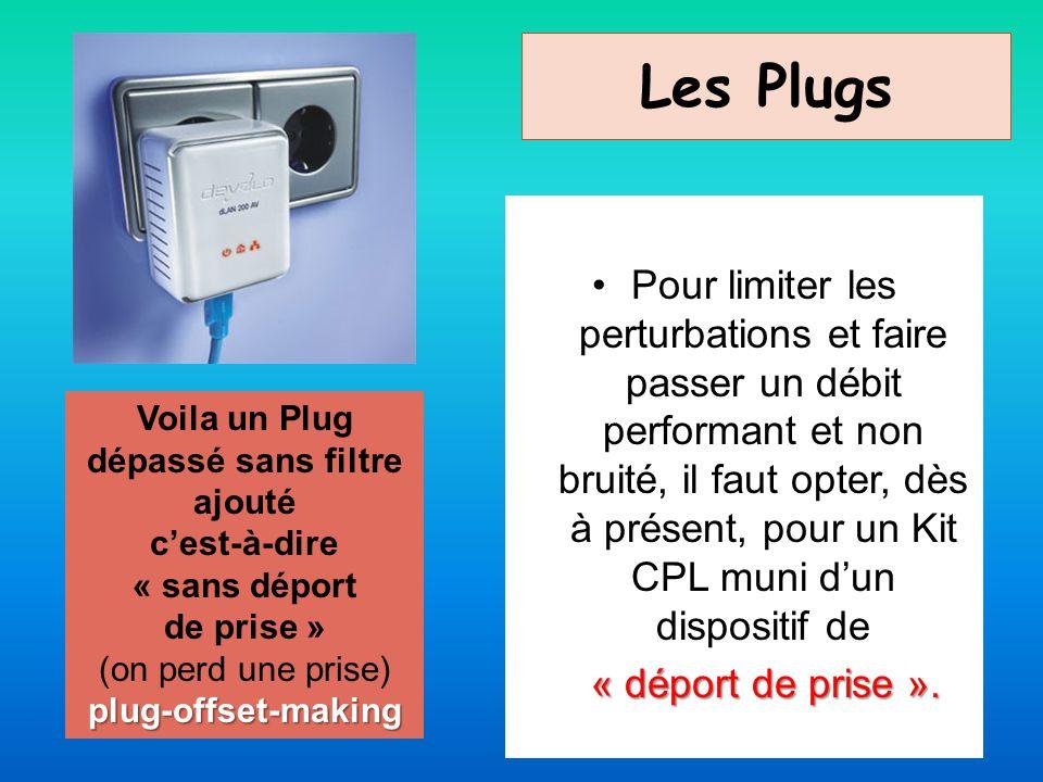 Les Plugs Pour limiter les perturbations et faire passer un débit performant et non bruité, il faut opter, dès à présent, pour un Kit CPL muni dun dis