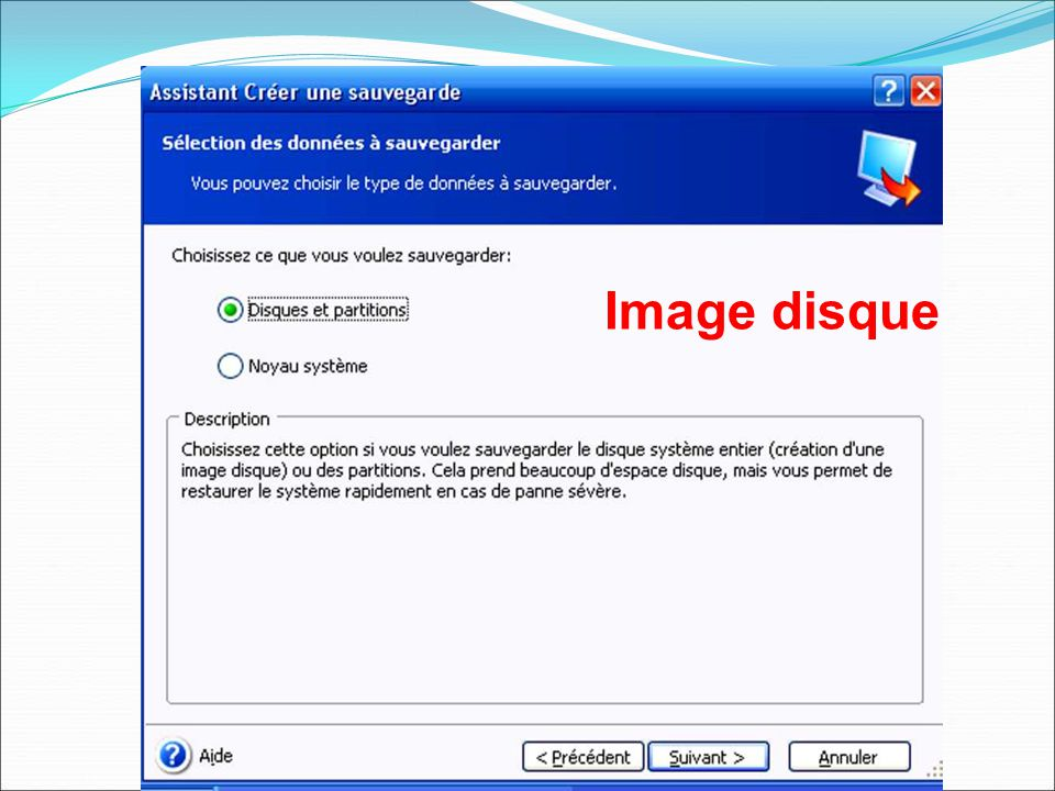 Image disque