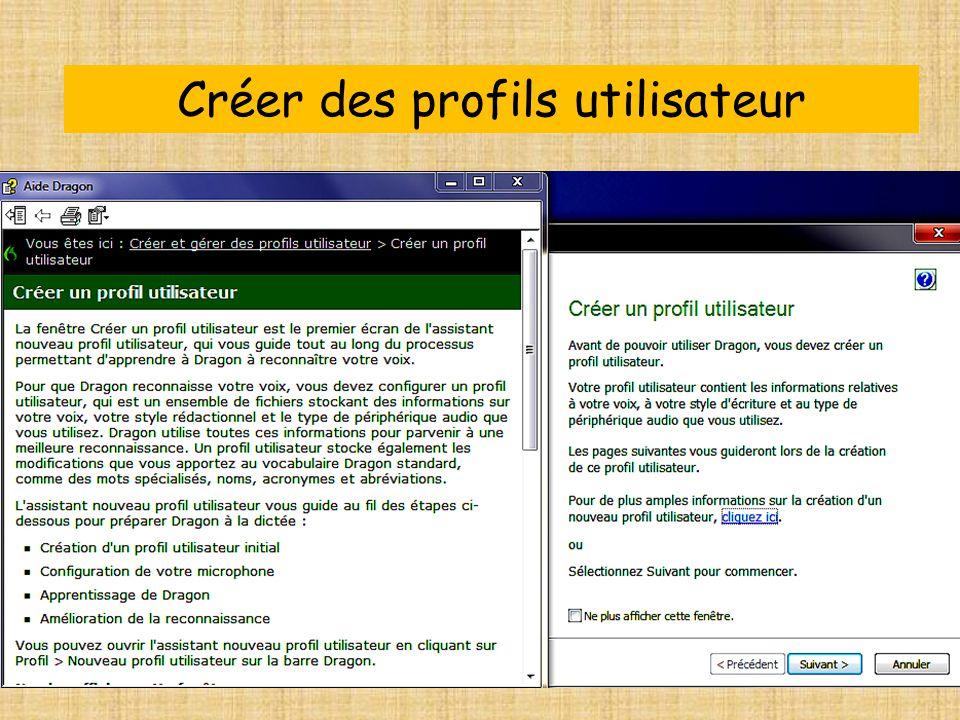 Créer des profils utilisateur