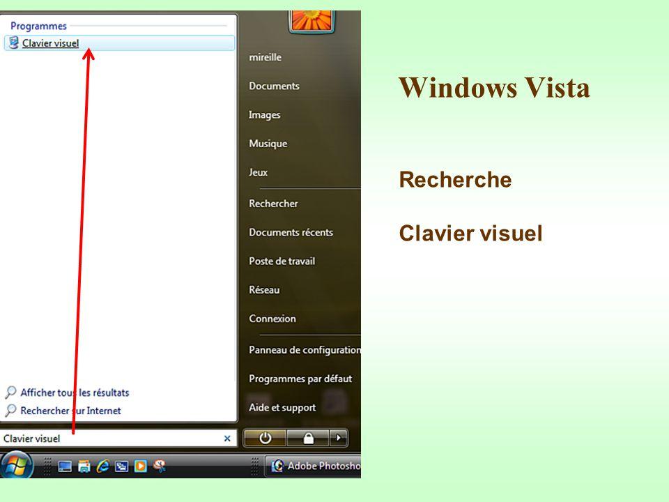 Windows Vista Recherche Clavier visuel