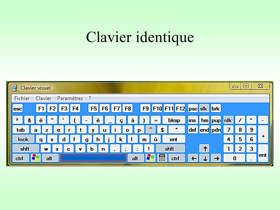 Clavier identique