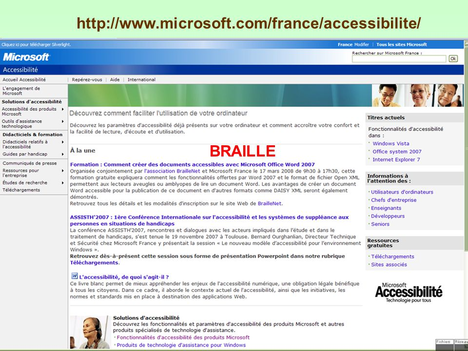 http://www.microsoft.com/france/accessibilite/ BRAILLE