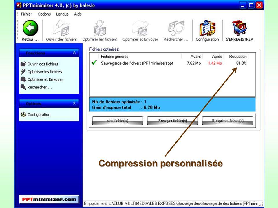 Compression personnalisée