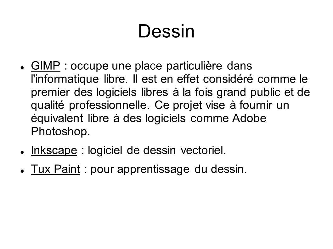 Dessin GIMP : occupe une place particulière dans l informatique libre.