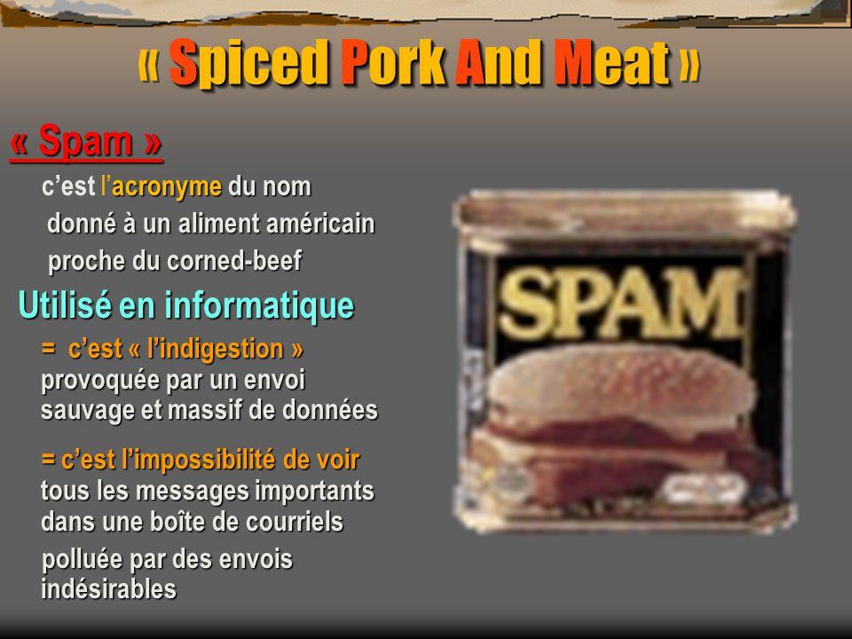ATTENTION un spam peut cacher un virus Soit un VER ou Worm Soit un VER ou Worm qui se transmet par des fichiers-joints +++ ils ont été les plus diffusés par la messagerie « OUTLOOK » ils ont été les plus diffusés par la messagerie « OUTLOOK » Soit un cheval de Troie ( trojans ou troyens ) Soit un cheval de Troie ( trojans ou troyens ) Cest un mini-programme simulant de faire quelque chose et faisant tout autre chose à sa place.