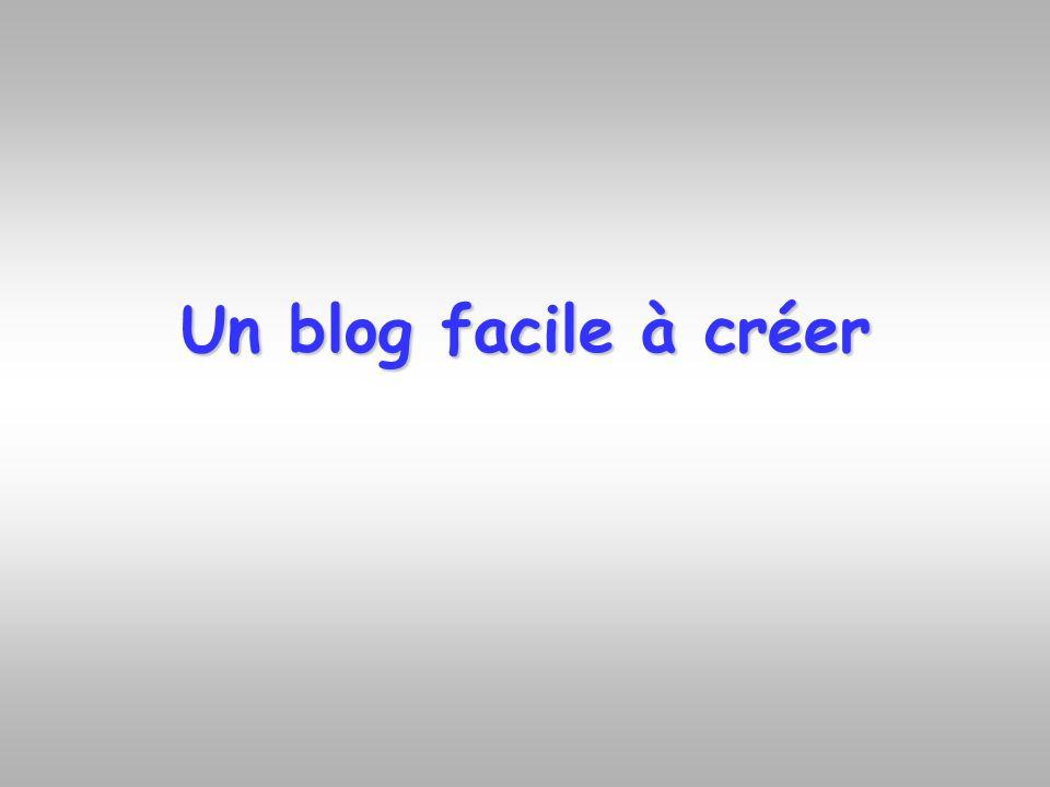 Un blog facile à créer