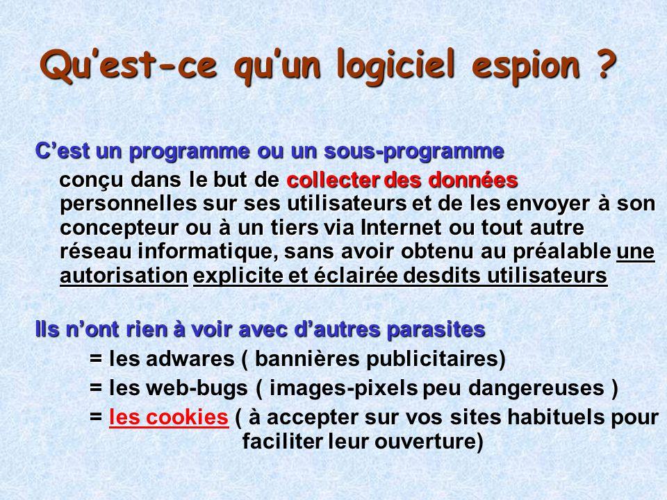 Suppression des cookies (rappel) Panneau de configuration Options Internet Général ou par Internet Explorer Outils Général