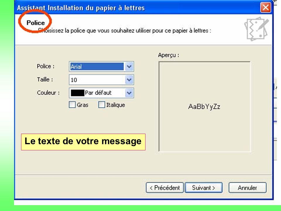 lkj Le texte de votre message