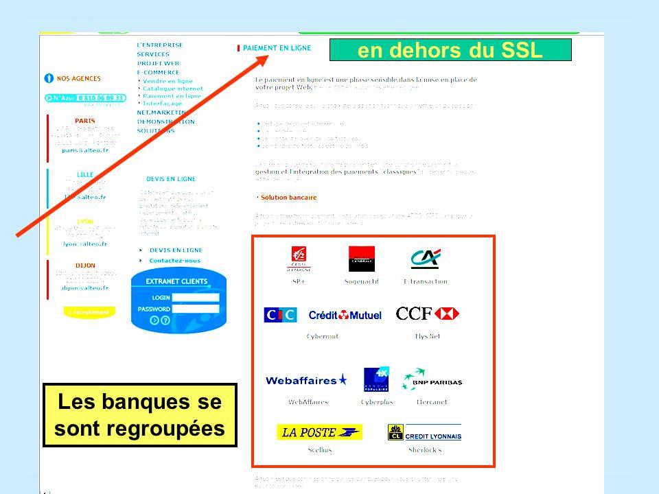 Les banques se sont regroupées en dehors du SSL