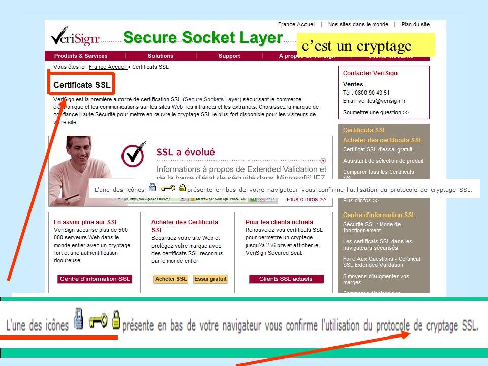 Transmission sécurisée des informations entre le navigateur du client et le serveur du site Web TPE : Terminal de Paiement Electronique Netscape Navigator