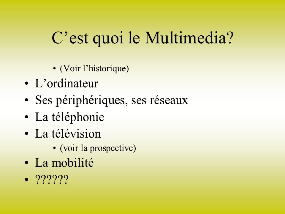 Cest quoi le Multimedia.