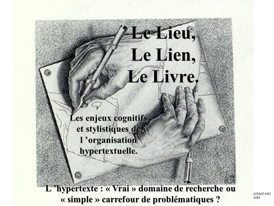 Olivier | www.ertzscheid.net | Rencontres du CNAM 17 / 11 / 2003 Glossaire Hypertexte.