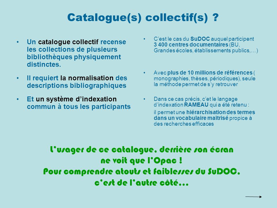 Catalogue(s) collectif(s) .